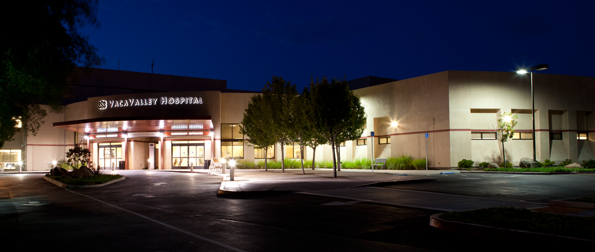 NorthBay VacaValley Hospital, Site Of An Adaptive Exterior Lighting  Demonstration For The Health Care Sector