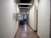 Hallway corridor inside the CLTC facility that utilizes adaptive lighting.