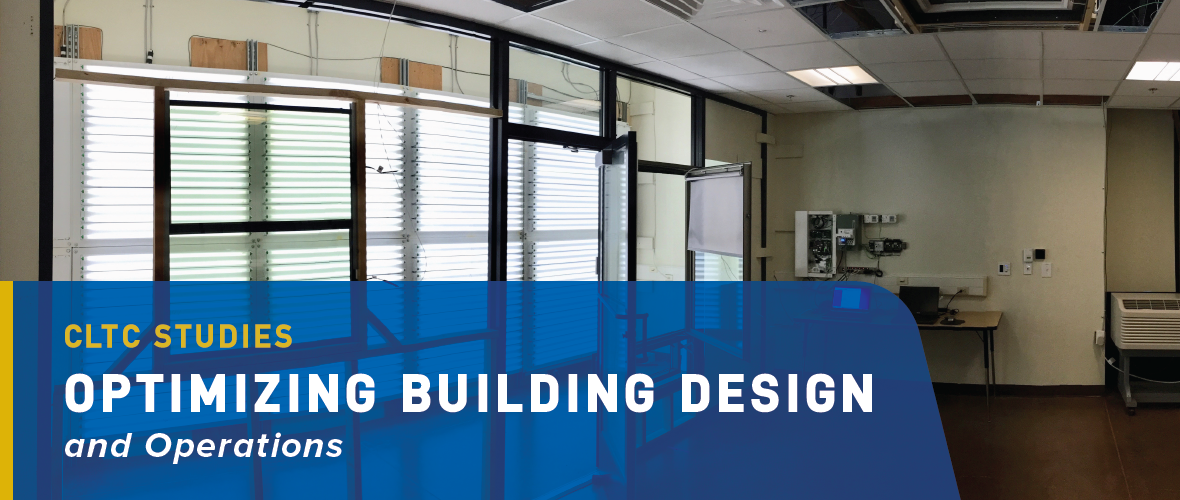 CLTC Studies: Optimizing Building Design and Operations. A laboratory room within CLTC demonstrating various lighting and daylighting technologies and integrated building controls.