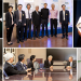 Collage of images of Professor Michael Siminovitch with Asia-Pacific Economic Cooperation (APEC) representatives.